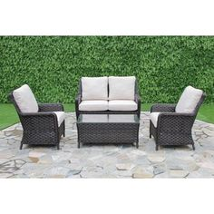 Aosta 4-piece Conversation Set | Overstock.com Shopping - The Best Deals on Sofas, Chairs & Sectionals