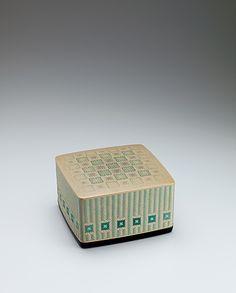 大谷早人 籃胎蒟醬菓子器「緑風」