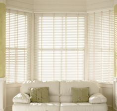 True White Sherwood Venetian Blind - Made to measure from £29 with decorative tapes. Create a classic look with this real wood venetian and a perfect window dressing solution. Please re-Pin or pay us a visit, thanks : ) #decor #orderblinds