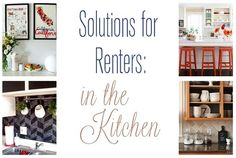 solutions for renters in the kitchen - or tips for decorating your kitchen on the cheap when you can't rip out your cabinets or update your floors