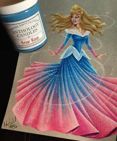 Aurora - Disney Princess Drawings by Max Stephen<<< wonderful. Disney Princess Aurora, Disney Princess Drawings, Disney Drawings, Drawing Disney, Princess Bubblegum, Disney And More, Disney Love, Disney Magic, Disney Stuff
