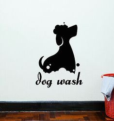 Dog Grooming Salons, Pet Grooming, Wall Decals For Bedroom, Wall Decal Sticker, Diy Framed Art, Dog Corner, Nursery Stickers, Dog Salon, Dog Wash
