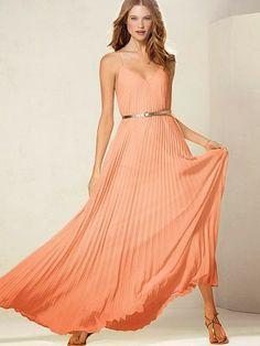 Gorgeous atomic tangerine maxi dress
