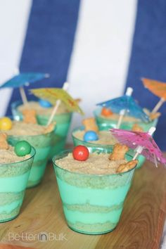 """A few weeks ago, when I was making (and then pinning) my Dirt Pudding recipe, I noticed a bunch of recipes for """"sand pudding"""" kept popping up. I was introduced to dirt pudding in it's many varieties as a teenager, but I had never heard of sand pudding. My... #cookingwithkids #dessert #desserts"""