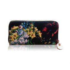 New Arrival Floral Print and Zipper Design Wallet For Women Online Wallet, Online Bags, Vintage Accessories, Fashion Accessories, Clutches For Women, Floral Bags, Cheap Bags, Buy Cheap