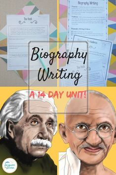 This common core aligned biography unit has everything you need to teach students how to write a biography! Whether you are looking for anchor chart ideas, templates, graphic organizers or rubrics, this unit has you covered! #Biography #Biography Writing