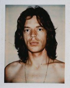 Andy Warhol Polaroid of Mick