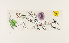 Joan Miro - UNTITLED from Erik Satie: Poems and Songs | From a unique collection of abstract prints at http://www.1stdibs.com/art/prints-works-on-paper/abstract-prints-works-on-paper/