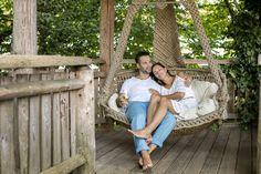 Eine romantische Auszeit zu zweit in der Hängeschaukel im Romantik Hotel im Park. #HotelimPark #romantik #Urlaub