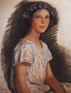 Портрет Веры Макаровой. 1924. Зинаида Серебрякова (1884-1967)