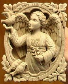 """Cast Stone CELEBRATE LIFE House Angel COLLECTIBLE PLAQUE Outdoor/Indoor SCULPTURE by e-earth-exchange. $39.95. Ships within 10 business days. 4.5"""" x 5"""" x 1.5"""". Cast Concrete - Use Indoors Or Outdoors. George Carruth Studio - Proudly made in the USA. These whimsical, original designs are sold in over 3,500 fine craft galleries and upscale gift shops nationwide. Carruth Studio artwork has been brightening the homes and gardens of thousands of people throughout the ..."""