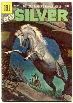 Lone Ranger's Famous Horse Hi-Yo Silver #18 1956- Dell Western comic- G/VG