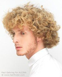 Curly mens hairstyle