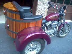 1991 Harley-Davidson SPORTSTER 1200 Trike , Purplish, Cedar Wood, 47,000 miles for sale in Great Falls, VA