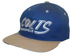 Indianapolis Colts Reebok Blue Silver Adjustable Snapback Hat Cap