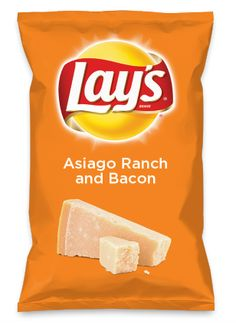 Wouldn't Asiago Ranch and Bacon be yummy as a chip? Lay's Do Us A Flavor is back, and the search is on for the yummiest flavor idea. Create a flavor, choose a chip and you could win $1 million! https://www.dousaflavor.com See Rules.