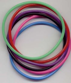 Jelly bracelets! Perfect with those jelly shoes!