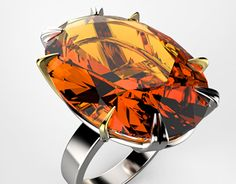 """Check out new work on my @Behance portfolio: """"Oval cut Orange Topaz 27.52cts in 14K white/yellow gold"""" http://be.net/gallery/36330619/Oval-cut-Orange-Topaz-2752cts-in-14K-whiteyellow-gold"""