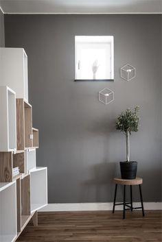 Gray painted walls