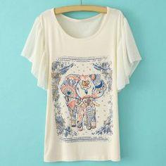 Trendy Full Print Batwing Sleeve Women's T-ShirtVintage T-shirts | RoseGal.com