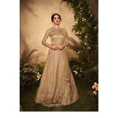 Buy Gowns - Discover the wide range of designer gowns online Grey Gown, Silver Gown, Floor Length Gown, Gowns Online, Neck Pattern, Designer Gowns, Festival Party, Range, Chic