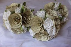Pink roses rolls table decorations rustic design WEDDING