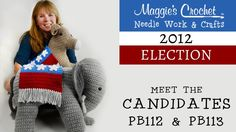 2012 Political Party Election Candidates by Crochet designer - artist Maggie Weldon