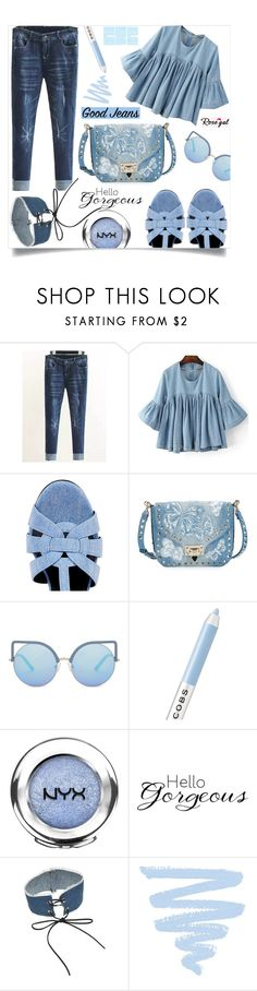 """All Denim, Head to Toe: Rosegal III/25"" by samra-bv ❤ liked on Polyvore featuring Yves Saint Laurent, Valentino, Matthew Williamson, Marc Jacobs, NYX, WALL, alldenim and rosegal"