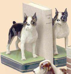 boston terrier bookends - Google Search