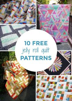 Start quilting today with these 10 free jelly roll quilt patterns for beginners. These free quilt patterns using jelly rolls even include recommended fabrics to take the guesswork out of it.