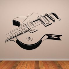 Electric Guitar Wall Stickers Music Wall Art
