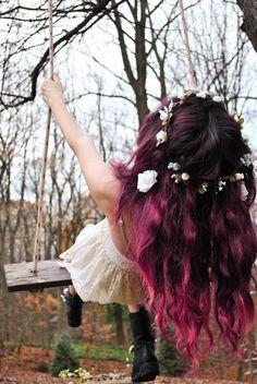 #hair #pink #purple