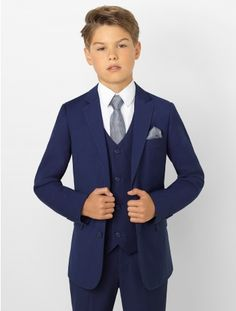 Shop boys navy suit Monaco at Roco. Boys wedding navy suit with free UK delivery & 30 day returns. Kids Wedding Suits, Grey Suit Wedding, Wedding Men, Boys Wedding Outfits, Party Wedding, Wedding Ceremony, Wedding Venues, Boys First Communion Outfit, Communion Suits For Boys