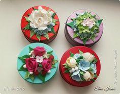 Декор предметов 8 марта Лепка Баночки-шкатулочки с цветами из японской полимерной глины Глина фото 6