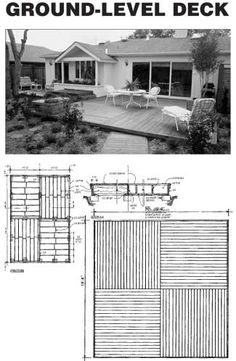 Ground-level deck Plans and Instructions