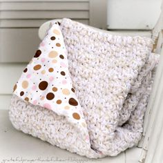 Add flannel lining to crocheted blankets. I've never liked how airy crocheted blankets are - they let the cold air through (what's the point) and little fingers can get stuck. This is an option, though I would choose a different stitch pattern.