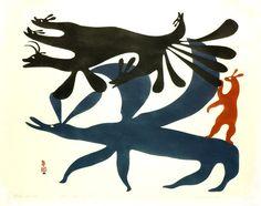 Hare Spirits (1960) by Kenojuak Ashevak, Inuit artist (CD1960-18)