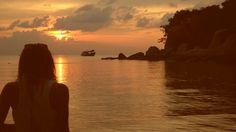 Atardecer en Tailandia KoTao, playa Saire beach!!