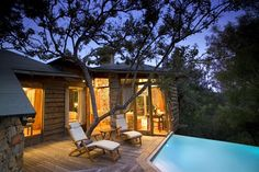 Tsala Treetop Lodge, Plettenberg Bay, South Africa: Tucked off the Western Cape in South Africa sits the Tsala Treetop Lodge, 16 suites and villas nestled into the trees of an indigenous forest. with own private deck and infinity pool; Resorts, The Places Youll Go, Places To Go, Tree House Resort, Treehouse Hotel, Treehouse Vacations, Cool Tree Houses, Luxury Tree Houses, Beste Hotels