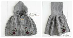 If you have some time, this Hooded Cape Free Crochet Pattern is a great project to start now. This is such an elegant and warm cape for any little one.