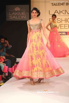 Bright & Beautiful Anarkali by Anushree Reddy http://thesplurge.net/ Hyderabad @ Lakme Fashion Week 2013
