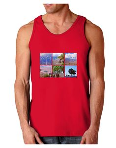 TooLoud Palm Springs Square Collage Dark Loose Tank Top