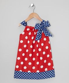 Take a look at this Red & Blue Polka Dot Polly Swing Dress - Infant & Toddler on zulily today!