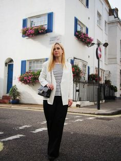 the perfect suit for women: a black & white ensemble