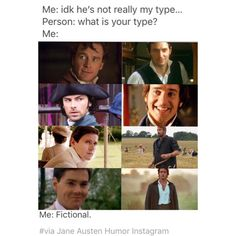 My Favorite Period Drama Men. Gilbert Blythe, Mr Darcy, Pride And Prejudice, Period Dramas, Humor, Jane Austen, Book Nerd, Book Lovers, Book Worms