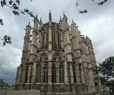 """Cathédrale Saint-Pierre de Beauvais""  Great example of the Buttresses supporting the Nave"