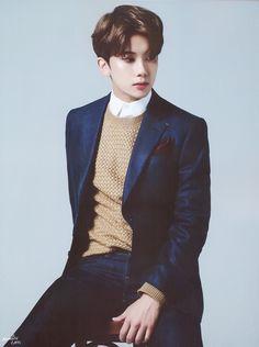 Yoo Youngjae from BAP (why no boygroup pics? Bap Youngjae, Kim Himchan, Bang Yongguk, Baby Bangs, Jung Daehyun, Star Magazine, Korean Boy, Fandom, K Pop Star