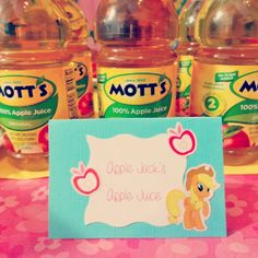 Would be cute to replace the Mott's label with an Apple Jack label
