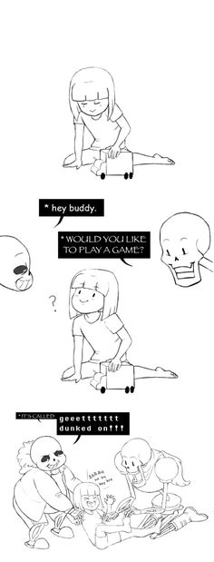 Frisk, Sans, and Papyrus - comic - http://ohheyimpaola.tumblr.com/post/133053478595/tickle-attack-on-frisk-xd-go-papyrus-and-sans