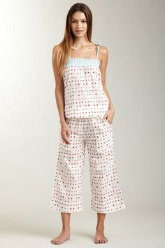 Strawberries Voile Flutter Tank & Pant Set ..so cute and comfy looking for lounging around the house